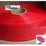 Tubo Termo Retrátil Vermelho Pvc 66mm(chato)-diam42mm 5xmts