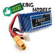 Bateria Lipo 3s 11.1v 1300mah 30/60c Xt60