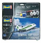 Revell - Boeing 727-200 Germania Level 3 Model Set Completo