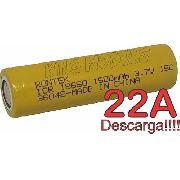 Bateria Li-ion 18650 Rontek 1500mah 22a Desc. P/ Ferramentas