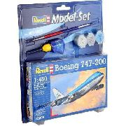 Revell - Boeing 747-200 Esc 1:450 Level 3 Klm - Model Set