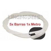 5xpçs Tubo Polietileno 4.5mmx2.5mmx100cm Linkagem Aeros