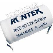2pçs Bateria Nicd - Sc - 1.2v 1800mah C/ Terminal Rontek
