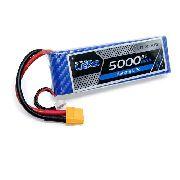 Bateria Lipo 2s 5000mah 7.4v 30/60c High Discharge Aero Auto
