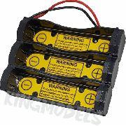 Suporte Para 3x Baterias 18650 Em Paralelo Com Bms Acoplada