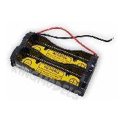 Suporte P/ 2x Baterias Liion 18650 Em Série C/ Bms Acoplada