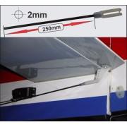 Arame Aço Com Rosca 2mm X 250mm +clevis-linkagem Aero- 2pçs