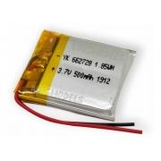 Bateria De Li-po Prismática 1s 3.7v 500mah - Uso Geral S/pcb