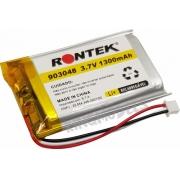 Bateria De Lipo Prismática 1s 3.7v 1300mah Uso Geral C/ Pcb