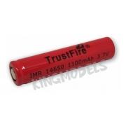 Bateria Li-ion 3.7v 14650 - Trustfire 1100mah - 5a Descarga