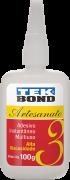 Cianocrilato Tekbond -nº3 - Alta Viscosidade - Frasco 100g