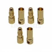 Conector Bullet(banana) 3.5mm para motores elétricos - 3 x Pares