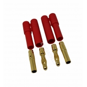Conector Hxt ( Bullet ) 4mm Com Capa De Isolamento - 2x Pçs