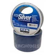 Fita Silver Adesiva Multiuso Azul Tek Bond 48mm X 5m