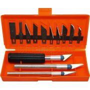 Kit de estilete de precisão com 13 diferentes lâminas
