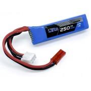 Lipo Airsoft 7.4v 250mah Cyma Glock + Rabicho Adaptação