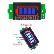 Monitor / Indicador Led Estado Carga Bateria Li-ion 1 A 8s