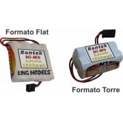Pack Bateria Nimh 4,8v - 1300mah Flat Ou Torre -você Escolhe