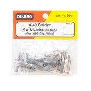 Push Rod / Clevis Dubro - Metal 4-40 - Dub604 - Solda - 12pç