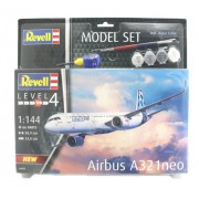 Revell - Airbus A321 Neo - 1:144- Level 4 - Model Set 64952