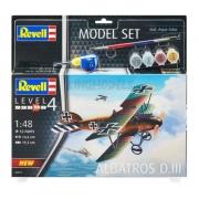 Revell Albatroz D.iii Esc 1:48 Level 4 Model Set 64973