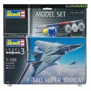 Revell - F-14d Super Tomcat - 1:100- Lv3 Model Set - 63950