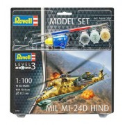 Revell - Mil Mi-24d Hind - 1:100 - Lv3 - Model Set 64951