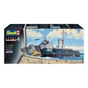 Revell Us Navy Landing Ship Medium 1:144 Lv5 5169