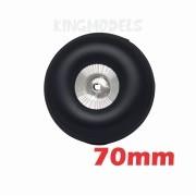 Roda De Borracha E Cubo Alumínio- Aero Glow/gasolina-70mm