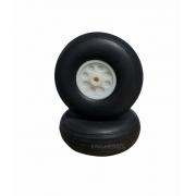 Roda De Borracha Extra-leve E Cubo Nylon-25mm - (2pçs)