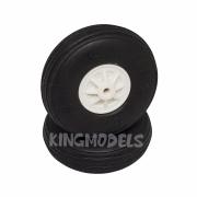 Roda De Borracha Para Aeros - 55mm - Cubo Em Nylon - 2x Pçs