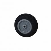 Roda De Espuma Emborrachada Para Bequilha Traseira De Aeromodelos 25mm