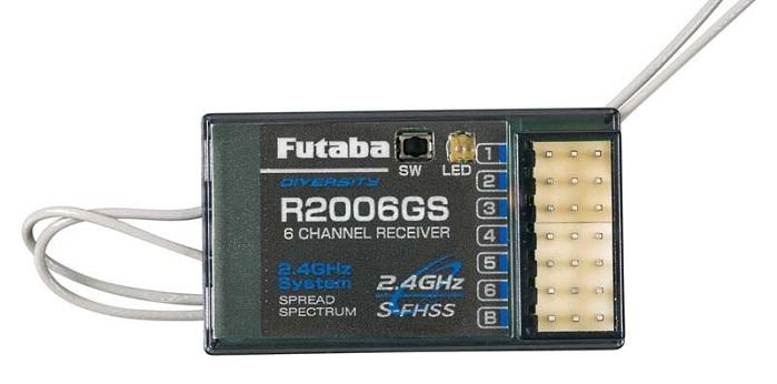 Receptor Futaba R2006gs - S-fhss - Original - 6 Canais  - King Models