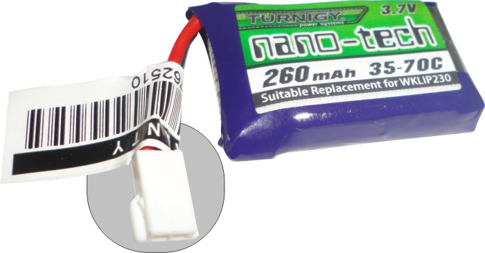 Lipo Nano Tech 1s-3,7v-260mah Para Mini Quadricópteros!!!!  - King Models