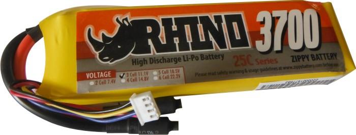 Lipo Zippy / Rhino -3s 11,1v-25/35c - 3700mah  - King Models