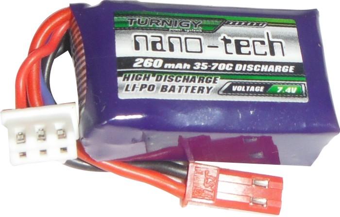 Lipo Nano Tech 2s-7,4v-260mah - 35/70c  - King Models
