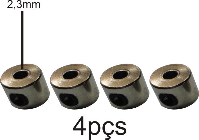 Retentor Para Rodas De Aeromodelos - Eixos 2.3mm - 4pçs  - King Models