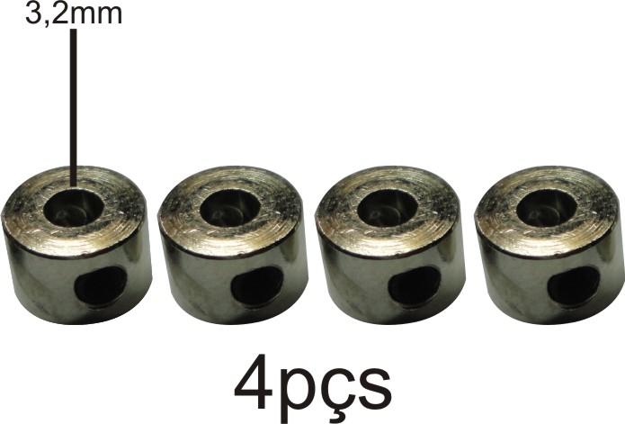 Retentor Para Rodas De Aeromodelos - Eixos 3.2mm - 4pçs  - King Models