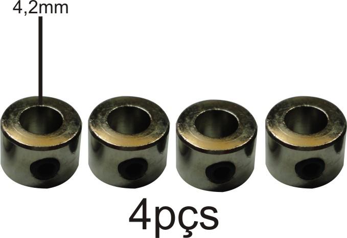 Retentor Para Rodas De Aeromodelos - Eixos 4.1mm - 4pçs  - King Models