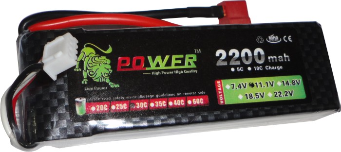 Bateria Lipo Power-3s 11,1v-30/40c - 2200mah-aero/heli  - King Models