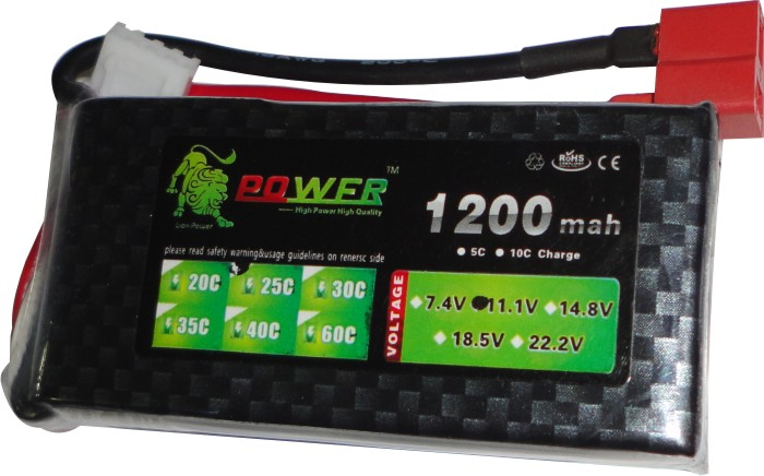 Bateria Lipo Power-3s 11,1v-25/35c - 1200mah-aero/heli  - King Models