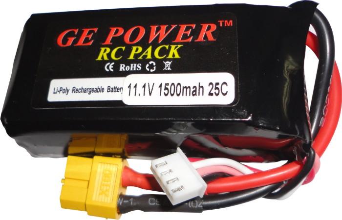 Bateria Lipo Gepower-3s 11,1v-25c-1500mah-aeros Treinadores  - King Models