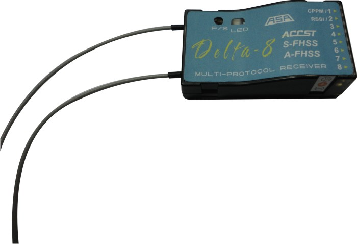 Receptor Delta 8 Para Rádios Futaba T6j/t8j/14sh- S-fhss  - King Models