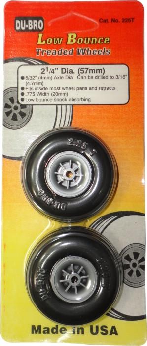 Roda De Borracha Du-bro Para Aeros Glow/elétrico-2´x1/4- 57mm  - King Models