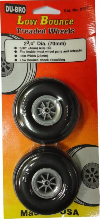 Roda De Borracha Du-bro Para Aeros Glow/elétrico-2´x3/4- 70mm  - King Models