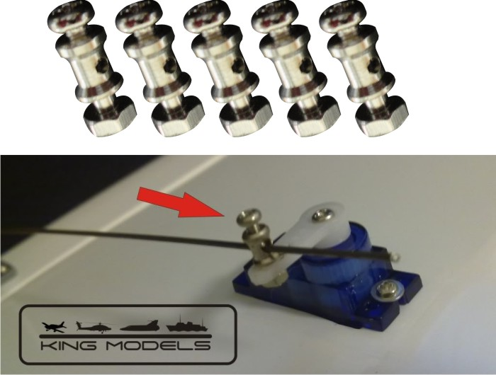 Stopper para linkagem de aeromodelos para micro servos  - King Models