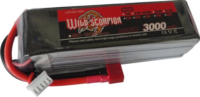 Lipo Wild Scorpion -4s 14,8v-35/45c-3000mah-multi-rotores!!!  - King Models