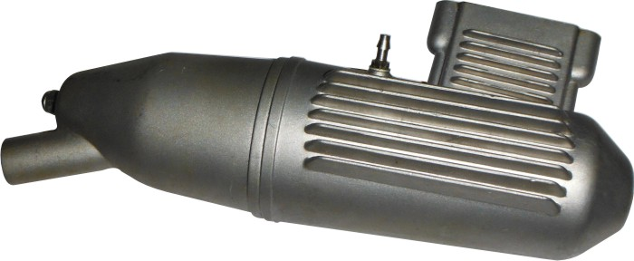 Mufla(escapamento) Para Motor Glow Asp-61-2 Tempos  - King Models
