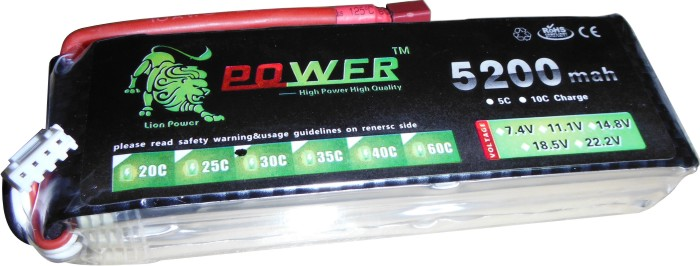 Bateria Lipo Power-3s 11.1v-30/40c - 5200mah  - King Models