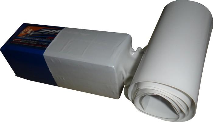 1xmt Tubo Termo retrátil Branco Pvc 100mm / diam. 63,6mm  - King Models